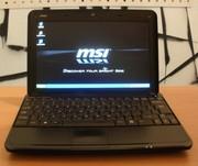Красивый нетбук MSI U100 (в отличном состоянии).